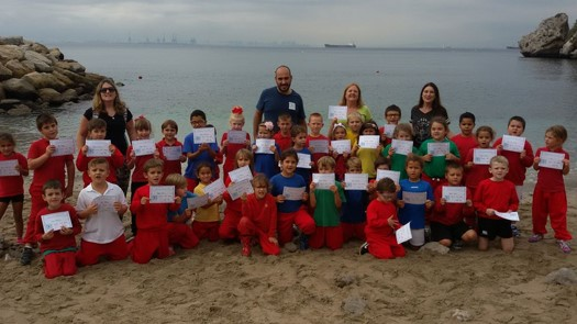 Nautilus Project Gibraltar Marine Pollution Awareness - School programme & beach clean up