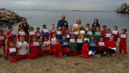 Nautilus Project Gibraltar Marine Pollution Awareness - School programme & beach clean up