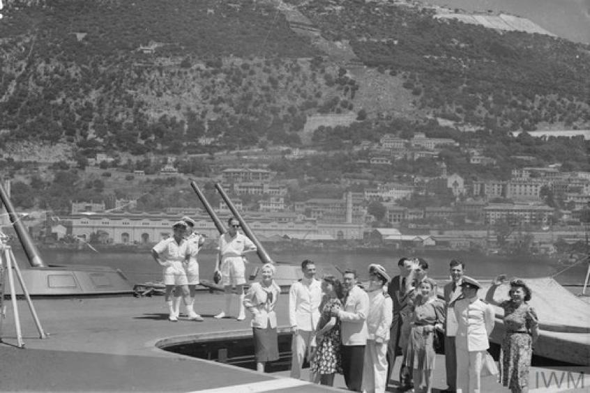 1943 ENSA party Gibraltar Vivien Liegh