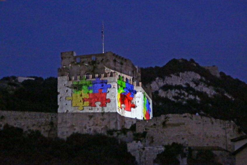 Moorish Castle Gibraltar World Autism Awareness Day