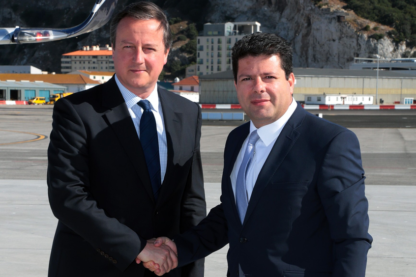 2016 David cameron visits Gibraltar Fabian Picardo