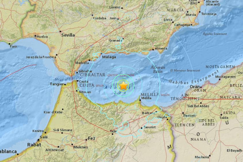 Earthquake Gibraltar 2016