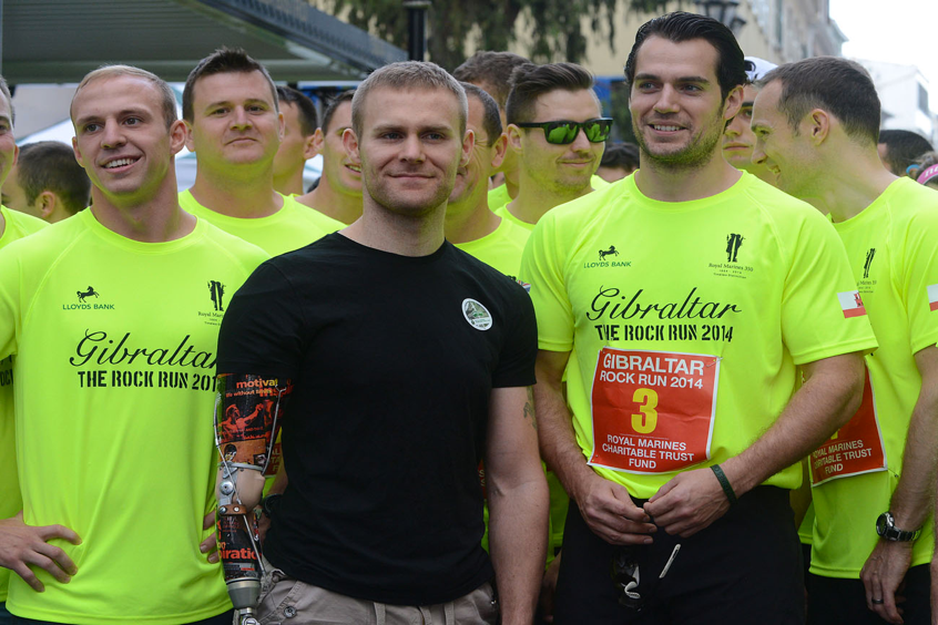 Henry Cavill Royal Marines Gibraltar Rock Run