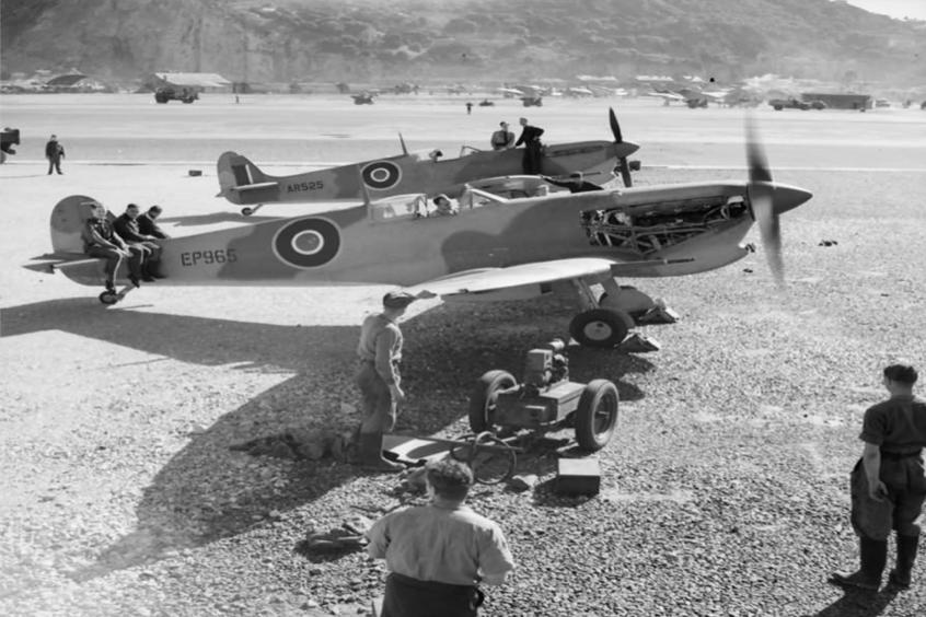 1942 Dwight Eisenhower arrives in Gibraltar