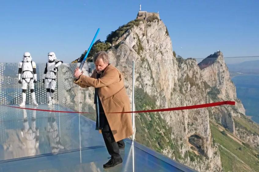 2018 Mark Hamill in Gibraltar Skywalk attraction
