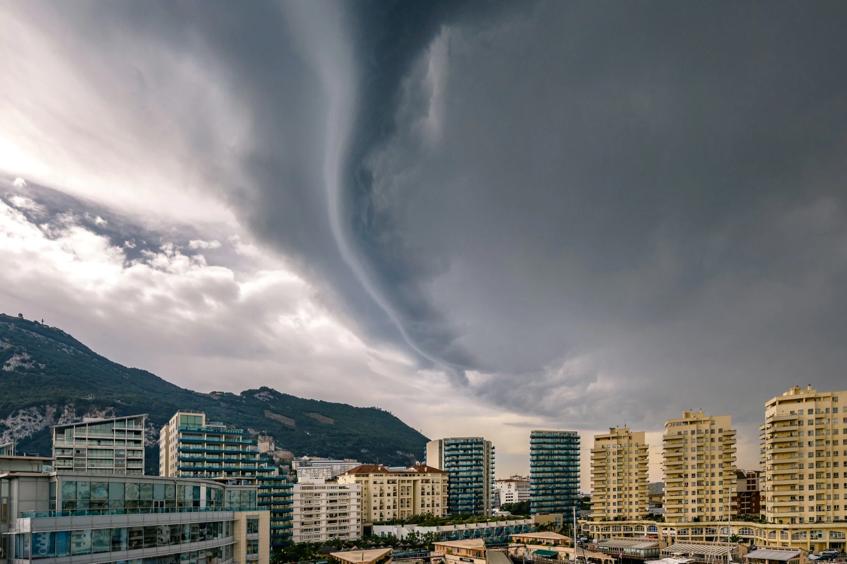 2016 Summer weather storm Gibraltar lightning strike