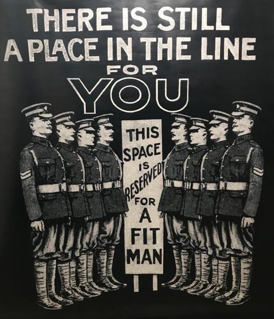 Gibraltar World War I recruitment poster