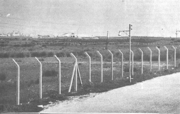 BRITAIN BUILDS A FENCE