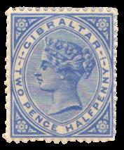 1886-87 Gibraltar Stamp - Queen Victoria