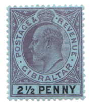 1903 King Edward VII Gibraltar stamps