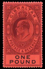 1904-08 King Edward VII Gibraltar stamps