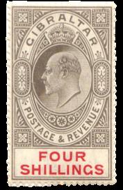 1906-12 King Edward VII Gibraltar stamp