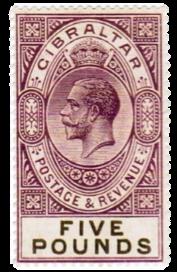 1921-1927 King George V-Gibraltar Stamp