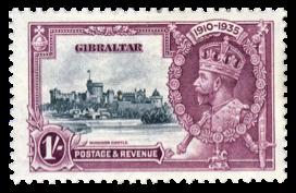 1935 Jubilee King George V-Gibraltar Stamp