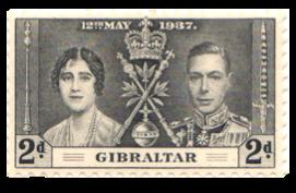 1937 King George VI Coronation-Gibraltar Stamp