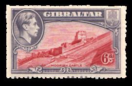 1938 King George VI Gibraltar View stamp