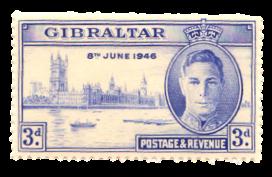 1946 King George VI Victory-Gibraltar stamp