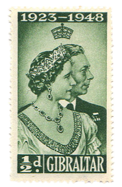 1949 King George VI Jubilee-Gibraltar stamp