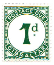 1956 Queen Elizabeth To Pay Labels-Gibraltar Stamp