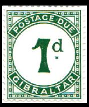1956 Queen Elizabeth To Pay Labels-Gibraltar Stamp