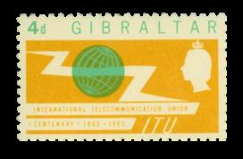 1965 Centenary of ITU Gibraltar Stamp