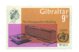 1966 Inauguration of WHO Gibraltar Stamp
