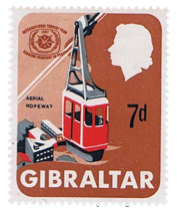 1967 International Tourist Year Gibraltar Stamp