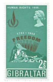 1968 Human Rights Year Gibraltar Stamp