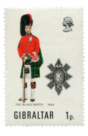 1971 Military Uniforms Series III Gibraltar Stamp