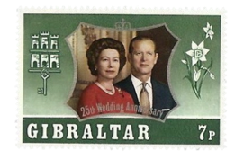 1972 Royal Silver Wedding Gibraltar Stamp