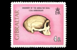 1973 125th Anniversary of Gibraltar Skull stamp