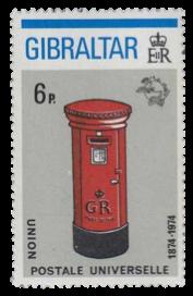 1974 Centenary of UPU-Gibraltar Stamp