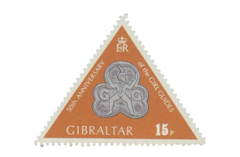 1975 50th Anniversary of Girl Guides Gibraltar Stamp
