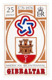 1976 Bicentenary American Revolution Gibraltar Stamp