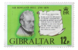 1979 Centenary of Sir Rowland Hill Gibraltar Stamp