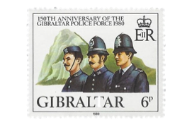 1980 150h Anniversary of Gibraltar Police Gibraltar Stamp