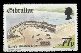 1983 Fortress in Gibraltar 18th Century Gibraltar Stamp