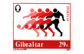 1984 Sports Gibraltar Stamp