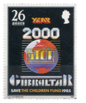 1985 STOP Polio Campaign Gibraltar Stamp