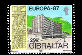 1987 Europa Architecture Gibraltar Stamp