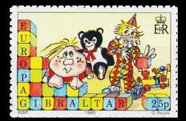 1989 Europa Children's Toys Gibraltar Stamp