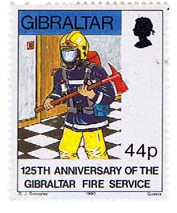 1990 125th Anniversary of Fire Service Gibraltar Stamp
