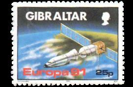 1991 Europa Space Gibraltar Stamp