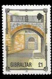 1993 Definitive Architecture Gibraltar Stamp