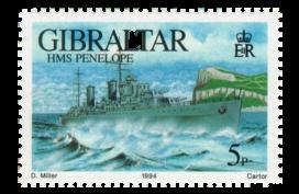 1994 Warships Series II Gibraltar Stamp