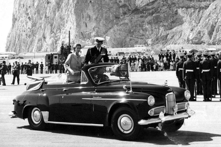 Queen Elizabeth II visits Gibraltar 1954