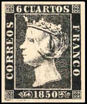 1850 Spanish Stamp